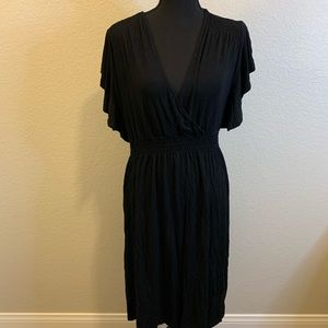 Spence ruffles black dress extra large